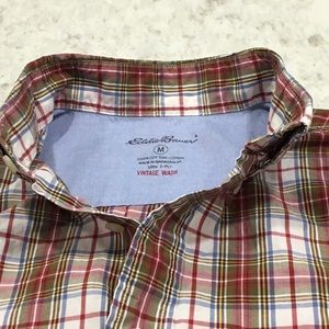 Men's Size Medium Eddie Bauer Vintage Wash Shirt